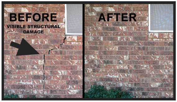 residential foundation repair before and after
